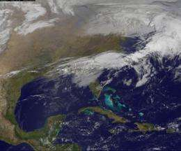 NASA satellite movie shows movement of tornadic weather system