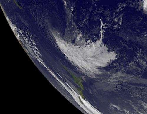NASA sees Cyclone Evan blown apart by wind shear