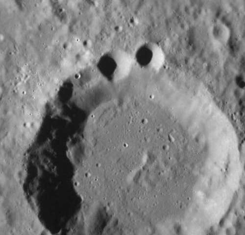 Cookie Monster Crater on Mercury