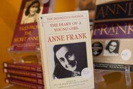 "A copy of, ""The Diary of a Young Girl: Anne Frank"""