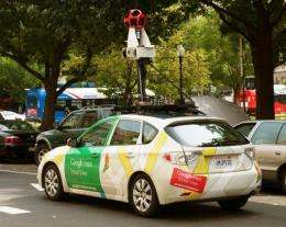A Google Street View car. Concerns over Street View and privacy have sparked legal battles in several other countries
