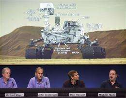 Alien-sounding lingo accompanies US Mars mission