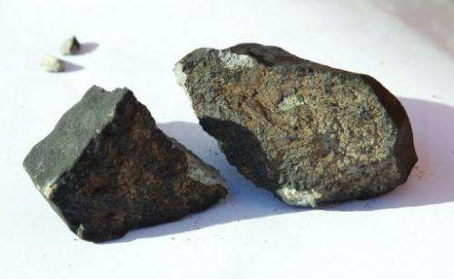 An apparent meteorite that split in two after hitting the roof of a cottage in central Oslo