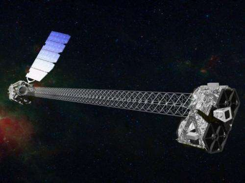 A NASA illustration of NuSTAR,  a sophisticated orbiting telescope that uses high-energy X-rays to hunt for black holes