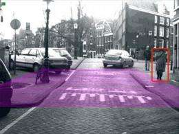 A new system of stereo cameras detects pedestrians from within the car