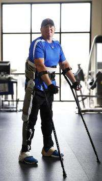 An exoskeleton of advanced design promises a new degree of independence for people with paraplegia