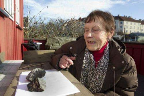 Anne Margrethe Thomassen looks at what is thought to be a meteorite that split in two