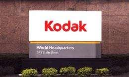 An sign at Eastman Kodak Co's corporate headquarters