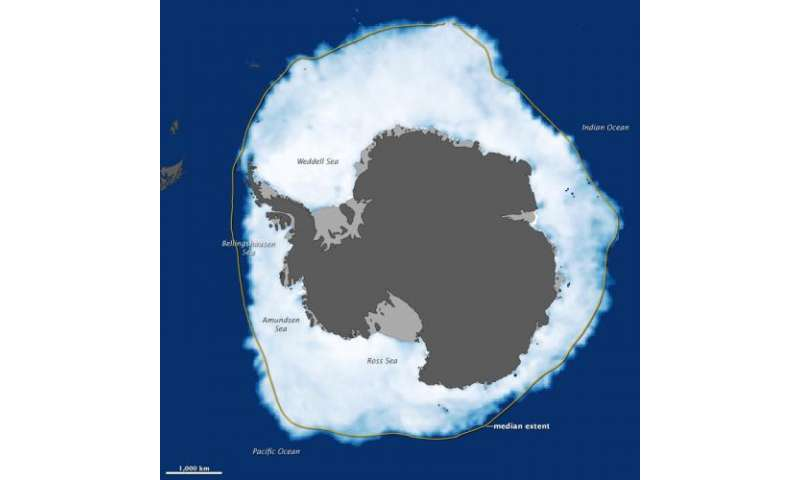 Antarctic Sea Ice Reaches New Max. Extent