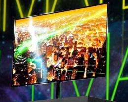 A Samsung 55-inch super OLED TV