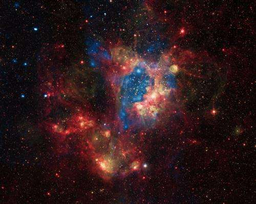 A surprisingly bright superbubble