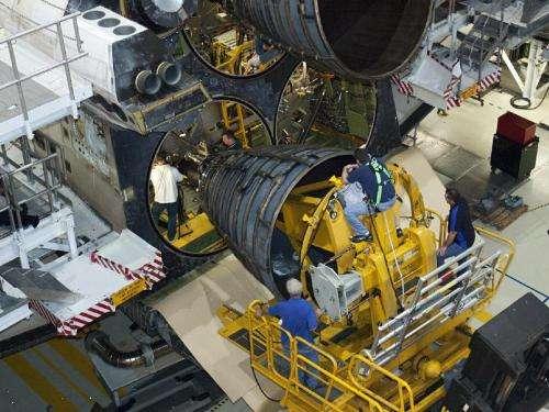 Atlantis Replica Gets Processed