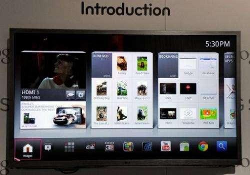 A TV displays Google TV