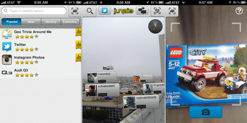 Augmented reality browser Junaio has new look