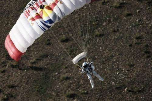 "Austrian athlete Felix Baumgartner said he was ""rested and ready to go"" for the new jump"