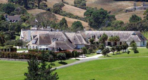 """A view of the """"Dotcom Mansion"""" owned by Megaupload founder in New Zealand"""