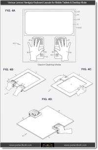 Lenovo applies for a patent for a grip tablet keyboard