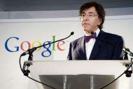 Belgian Prime Minister Elio Di Rupo presents the new partnership of Google and Mundaneum