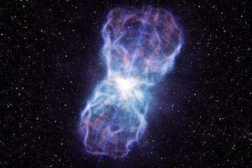 Biggest black hole blast discovered