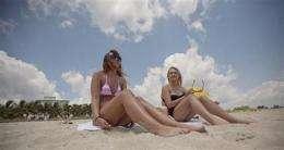 CDC: Half of young adults get sunburned (AP)