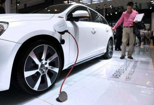 China currently only has around 100,000 electric and hybrid vehicles