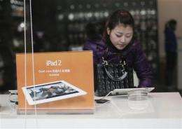 Chinese court hears Apple appeal on iPad trademark (AP)
