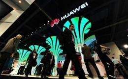 "Chinese telecoms giant Huawei on Sunday launched what it touted as the ""world's fastest smartphone"""