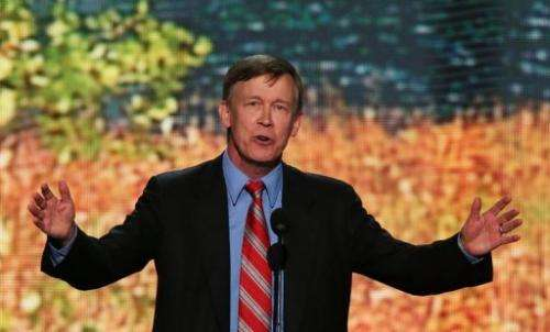 Colorado Gov. John Hickenlooper at the Democratic National Convention in Charlotte, North Carolina, on September 5, 2012
