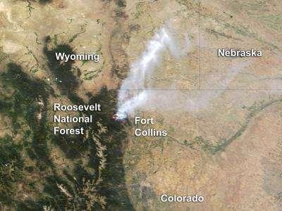 High Park Fire Map.Colorado S High Park Fire June 20 2012