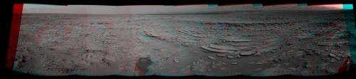 Curiosity inspects 'shaler' outcrop on descent to yellowknife bay drill target -- 2d/3d