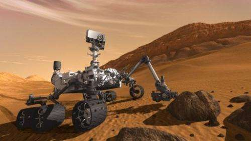 Curiosity, which has six wheels and weighs nearly a ton, is nearing the end of its 354-million-mile trek through space
