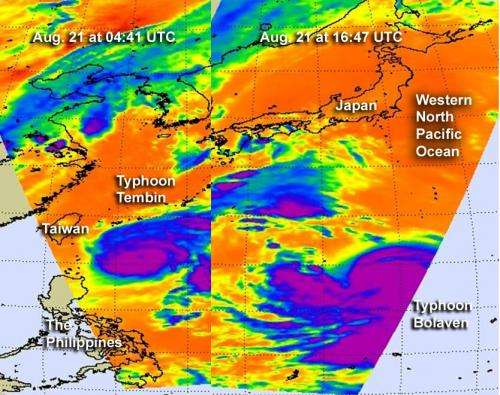 Double trouble continues in the Philippine Sea: Tembin and Bolaven