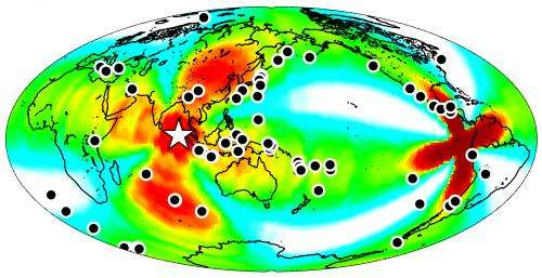 Large 2012 earthquake triggered temblors worldwide for nearly a week