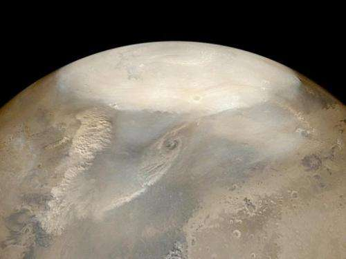 Dust storms observed by the Mars Global Surveyor Mars Orbiter Camera