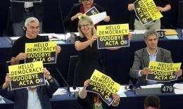 EU Parliament rejects ACTA anti-piracy treaty