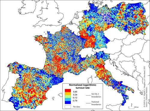 Map Of France Voting.Researchers Explore Elections And Voting Behaviour With Physics
