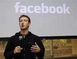 Facebook IPO could value it among top companies (AP)