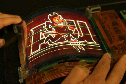 ASU center produces largest flexible color organic light emitting display