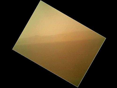 First color image of Mars returned from Curiosity