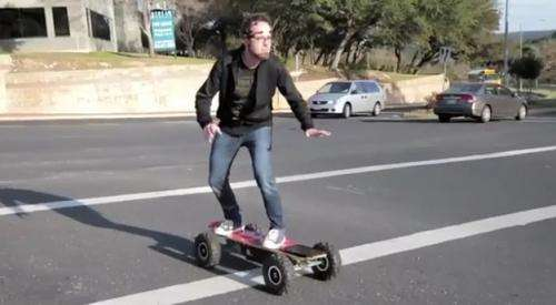 Mind-reading skateboard gets cues from neuroheadset (w/ video)