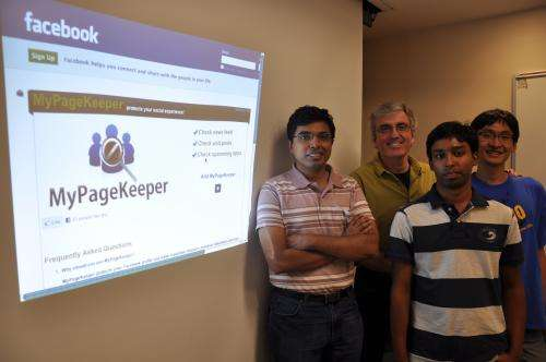 Free app successfully flaggs 97 percent of spam and malware posts on Facebook