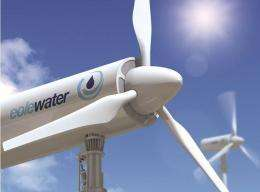 French company uses wind turbine to create fresh water