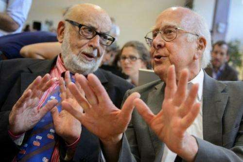 Higgs (right) has been mentioned as a possible Nobel contender
