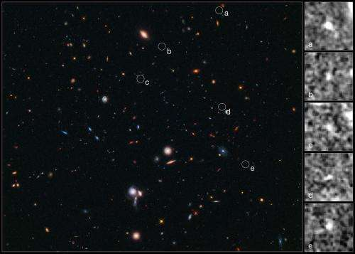 Hubble pinpoints furthest protocluster of galaxies ever seen