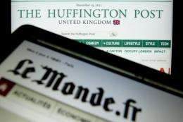HuffPo France is a partnership between Le Monde, the US parent firm and banker Matthieu Pigasse