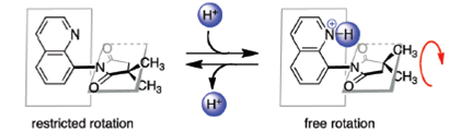 Using 'proton grease' to spin-up a molecular rotor