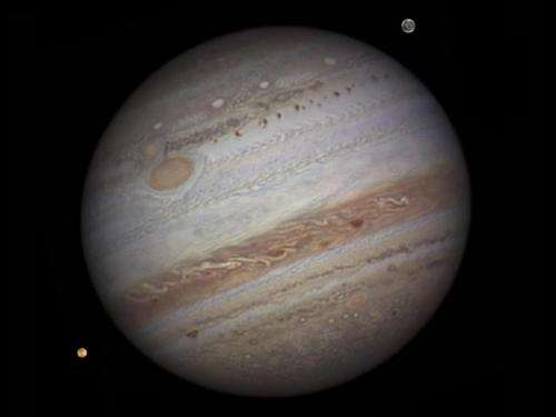 Image of Jupiter from a ground-based telescope