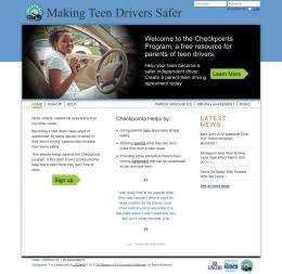 Interactive website helps parents keep teen drivers safe
