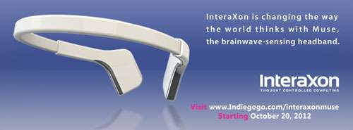 InteraXon looking for crowdfunding for Muse, a brainwave-sensor headband (w/ Video)
