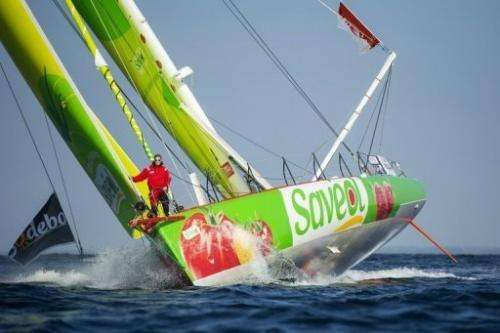 In the real Vendee Globe, competitors sail solo around the world without stopping